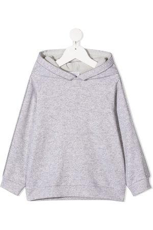 Brunello Cucinelli Plain classic hoodie - Grey