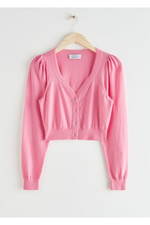 & OTHER STORIES Cropped Puff Sleeve Knit Cardigan