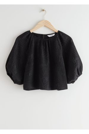 & OTHER STORIES Textured Puff Sleeve Top