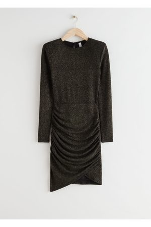 & OTHER STORIES Draped Padded Shoulder Mini Dress