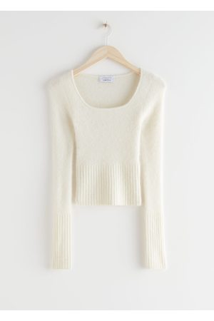 & OTHER STORIES Fitted Alpaca Blend Knit Top