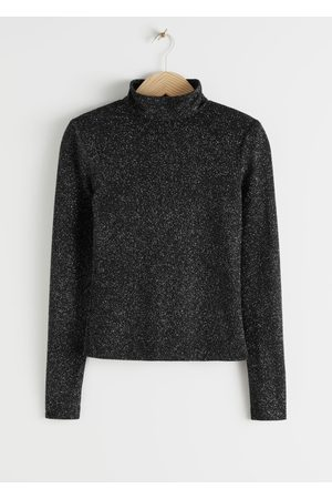 & OTHER STORIES Fitted Turtleneck Glitter Sweater