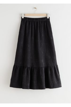 & OTHER STORIES Textured Tiered Midi Skirt