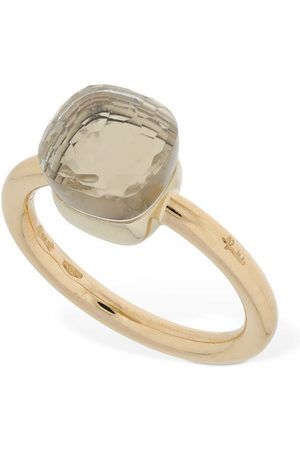 Pomellato Women Rings - Nudo 18kt Thin Ring W/ White Topaz