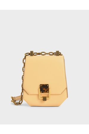 CHARLES & KEITH Women Shoulder Bags - Metallic Accent Geometric Crossbody Bag