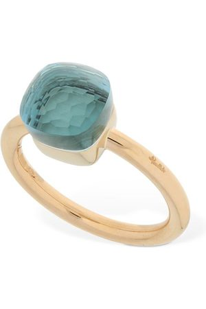 Pomellato Women Rings - Nudo 18kt Thin Ring W/ Blue Topaz