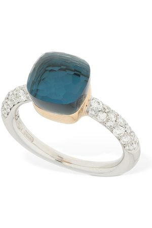 Pomellato Nudo 18kt Ring W/ Topaz & Diamond