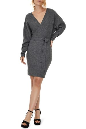 Vero Moda Women's Tie Waist Long Sleeve Sweater Dress