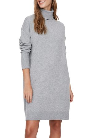 Vero Moda Women's Brilliant Turtleneck Long Sleeve Sweater Dress