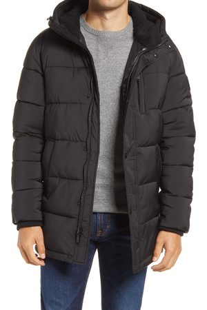Vince Camuto Men's Water Resistant Quilted Stretch Parka