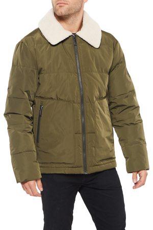 Vince Camuto Men's Quilted Coat With Fleece Collar