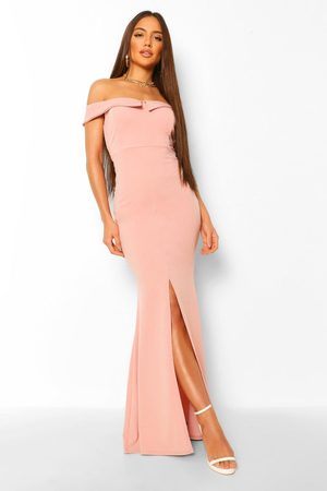 Boohoo Womens Off The Shoulder Split Front Maxi Dress - - 4