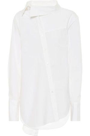 MONSE Tie-neck stretch-cotton shirt