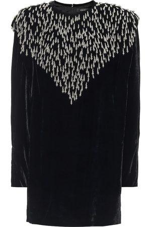 Isabel Marant Gabasi embellished velvet minidress