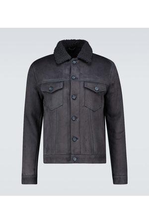 Thom Sweeney Shearling trucker jacket