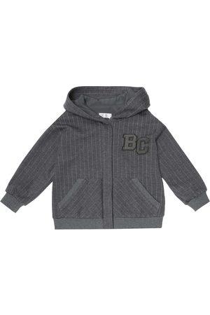 Brunello Cucinelli Pinstriped wool-blend track jacket