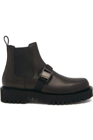 VALENTINO GARAVANI Buckle-strap Leather Chelsea Boots - Mens