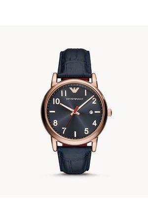Armani Emporio Men's Three-Hand Date Leather Watch
