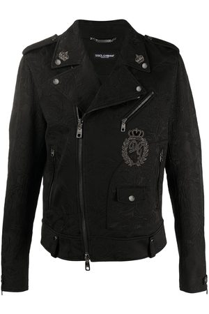 Dolce & Gabbana Floral brocade patch biker jacket