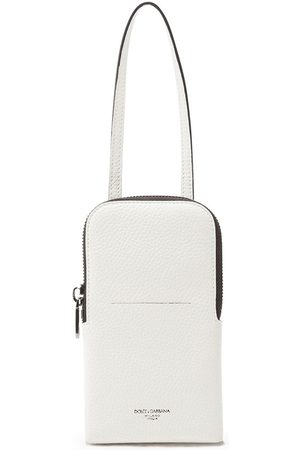 Dolce & Gabbana Grained leather phone bag