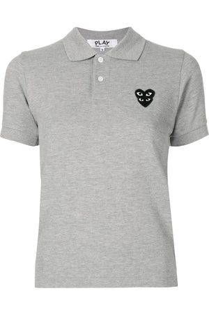 Comme des Garçons Logo patch polo shirt - Grey