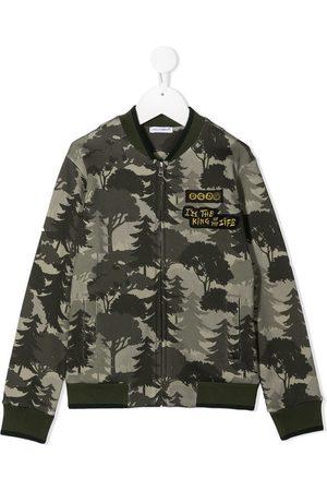 Dolce & Gabbana Forest print bomber jacket