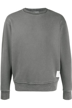 Thom Browne Logo patch sweatshirt - Grey