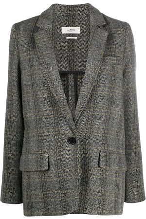 Isabel Marant Charly single-breasted wool blazer - Grey