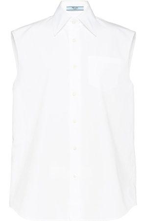 Prada Sleeveless poplin shirt