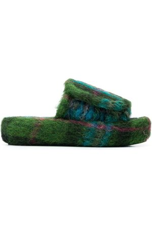 Natasha Zinko Tartan unisex slippers