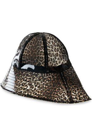 Le Mont St Michel Julianne leopard-print hat - Neutrals