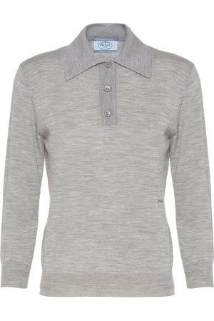 Prada Knitted polo shirt - Grey