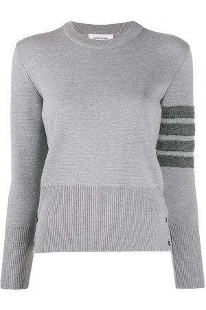 Thom Browne 4-Bar stripe jumper - Grey