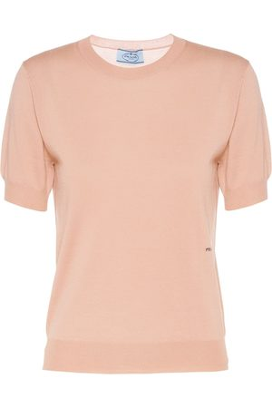 Prada Women Tops - Knitted logo top