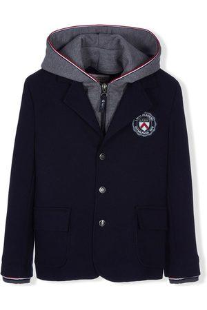 Lapin House Blazers - Logo patch hooded blazer
