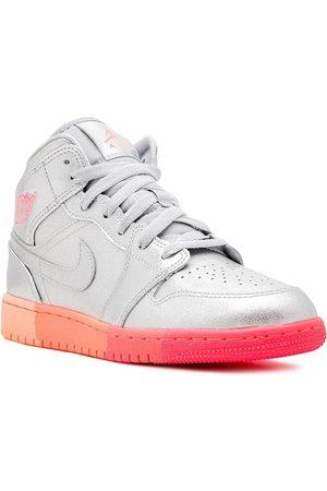 Nike TEEN Air Jordan 1 mid sneakers - METALLIC /RACER