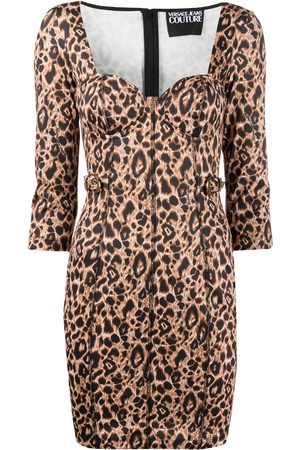 VERSACE Animalier Print Mini dress