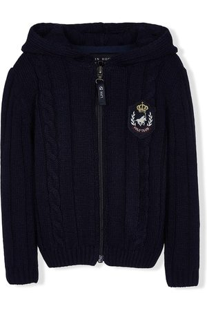 Lapin House Cable-knit zipped hoodie