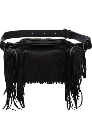 Dsquared2 Leather Belt Bag W/ Fringes