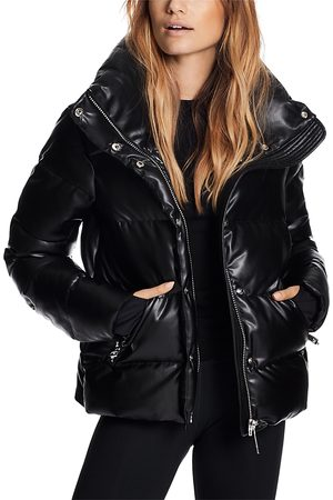 SAM. Isabel Faux Leather Puffer Coat