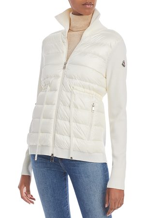 Moncler Women Puffer Jackets - Cardigan Puffer Front Coat