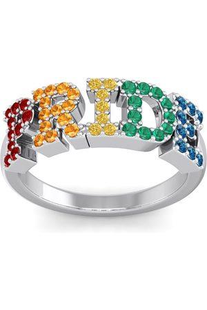 SuperJeweler 1/2 Carat Rainbow Pride Gemstone Ring in Sterling