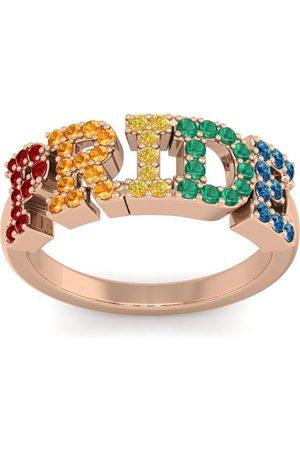 SuperJeweler 1/2 Carat Rainbow Pride Gemstone Ring in 14K (3.70 g)
