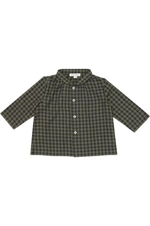 Caramel Baby Raven checked cotton shirt