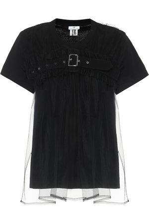 NOIR KEI NINOMIYA Cotton and tulle T-shirt