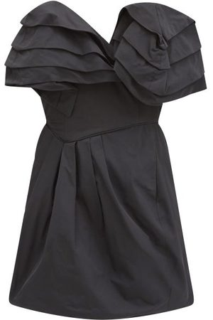 THORNTON BREGAZZI Agnese Ruffled Taffeta-twill Mini Dress - Womens