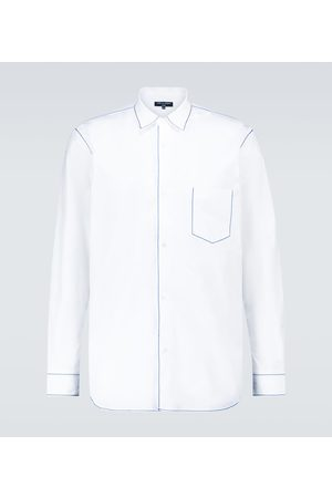 Comme des Garçons Stitched long-sleeved cotton shirt