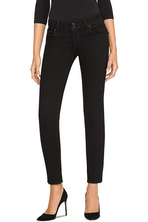 Hudson Collin Mid Rise Skinny Jeans in