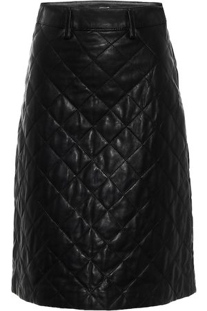 DODO BAR OR Quilted leather pencil skirt