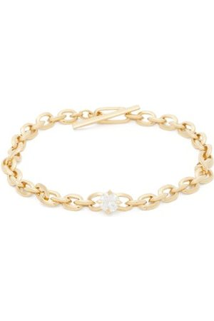 Lizzie Mandler Women Bracelets - Knife Edge Diamond & 18kt Chain Bracelet - Womens